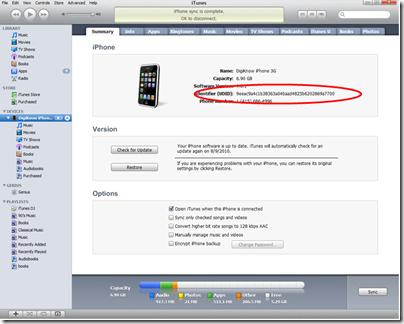 iTunes UDID